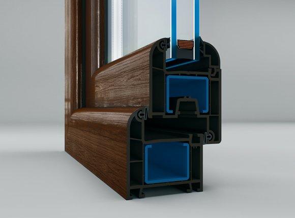3-камерна PVC дограма за врати и прозорци