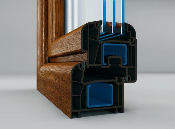 5-камерна PVC дограма за врати и прозорци