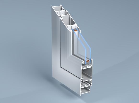 Алуминиева система за врати и прозорци с непрекъснат термо мост